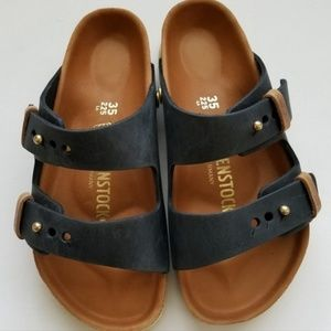 Birkenstock Arizona Exquisite Urban Black Leather